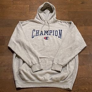 Men's 2XLT (Tall) Gray Champion Hoodie Sweatshirt